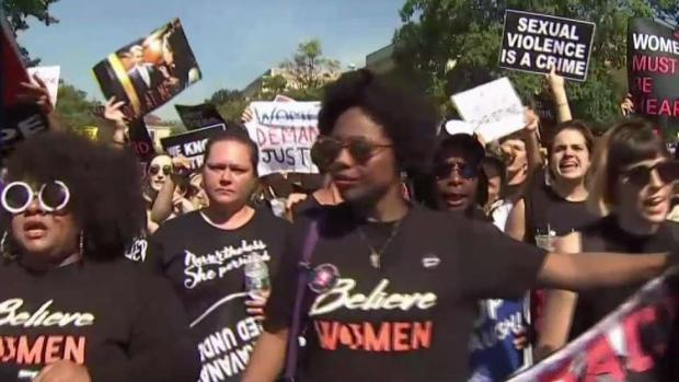 'Cancel Kavanaugh' Protesters March to Supreme Court