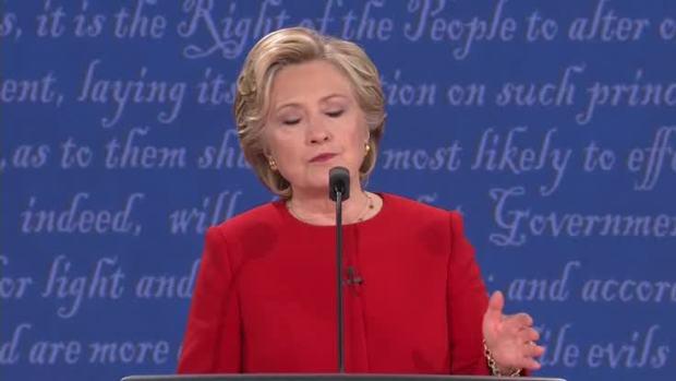 Presidential Debate: Clinton on Cybersecurity