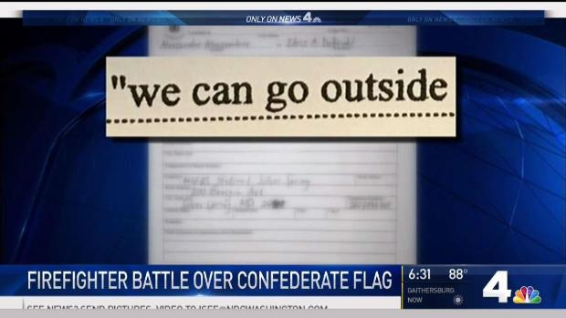 Confederate Flag Set Off Firefighter Argument