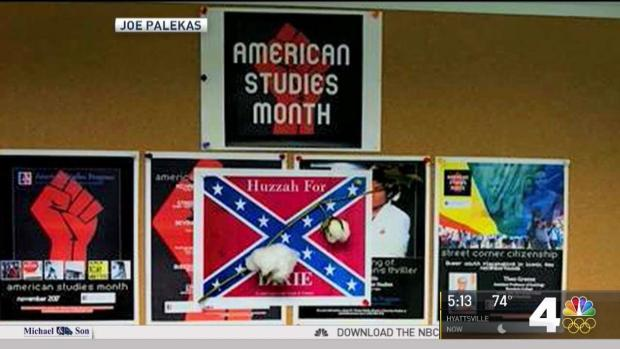 Flyers With Confederate Flag Found at American University