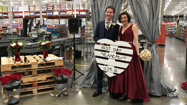 [NATL-SD-G] Wedding Album: San Diego Couple Marries at Costco in Mission Valley