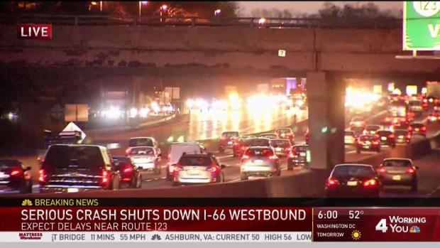 [DC] Crash Shuts Down Part of Interstate 66