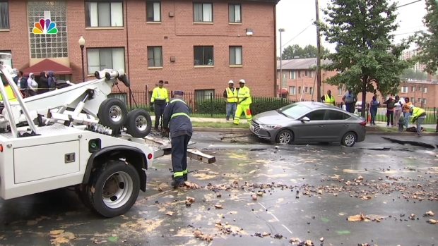 [DC] Cars Left Teetering on Edge of Large Sinkhole in SE DC