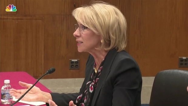 [NATL] Devos Responds to Questions on Proposed Cuts to Special Olympics Funding