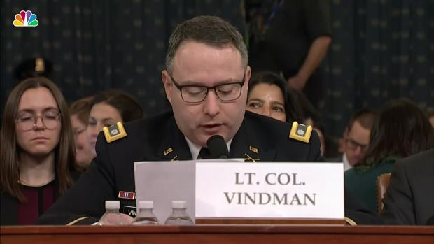 [NATL] Lt. Col. Vindman to Father: 'Do Not Worry, I Will Be Fine For Telling The Truth""
