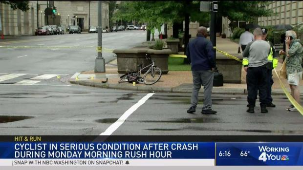 Cyclist Seriously Injured in Downtown DC Hit-and-Run