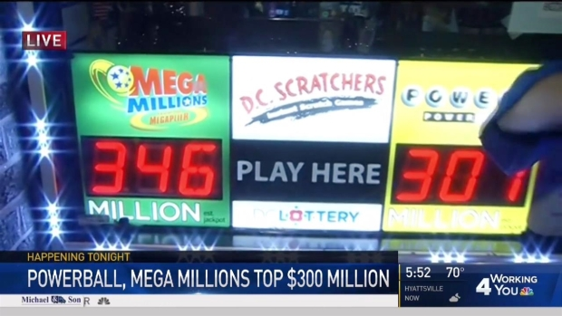 [DC] Dueling Jackpots: Mega Millions, Powerball at More Than $300M