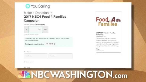 [DC] Join NBC4 to Give Families a Happier Thanksgiving