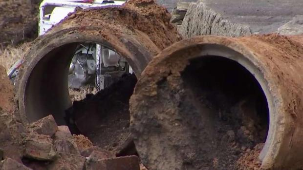 GW Parkway NB Closed Through Weekend Due to Sinkhole