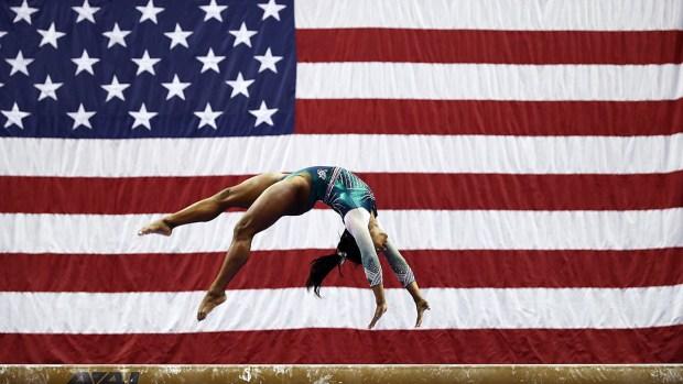 Top Sports Photos: Simone Biles Lands Historic Triple-Double