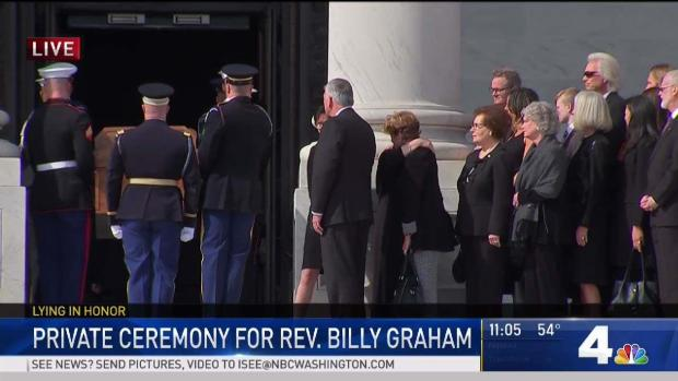 [DC] Graham, Wary of Politics in Life, Gets Rare Capitol Salute