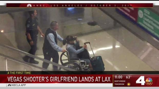[NATL-LA] Gunman's Girlfriend Arrives at LAX