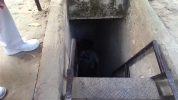 Chris Gordon Climbs Out of Viet Cong Tunnel