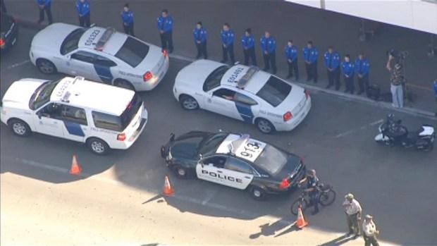 [LA] LAX Ceremony Honors Slain TSA Officer