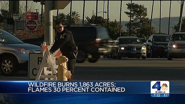 [LA] Firefighters Struggle to Contain Colby Fire