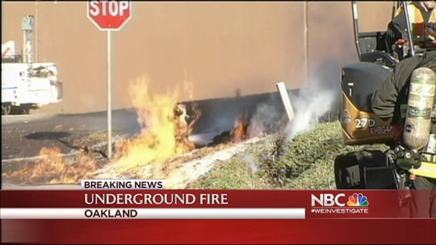 [BAY] Oakland Street on Fire After Gas Line Erupts