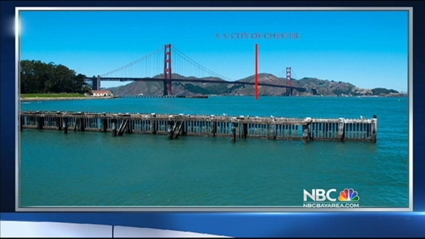 """[BAY] 1888 """"City of Chester"""" Shipwreck Rediscovered in San Francisco Bay"""