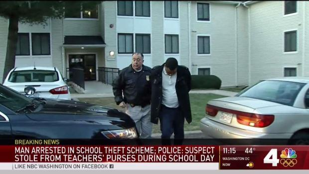 [DC] Man Arrested, Accused of Stealing from Teachers' Purses During School