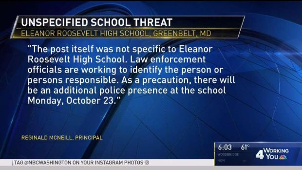[DC] Md. High School Steps Up Security After Social Media Threat