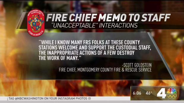 Montgomery County Fire Chief Cites Inappropriate Behavior
