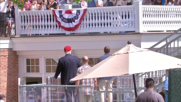 [NATL] Trump Gets Warm Welcome at US Women's Open