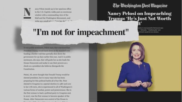 [NATL] Pelosi: Trump Is 'Not Worth' Impeaching