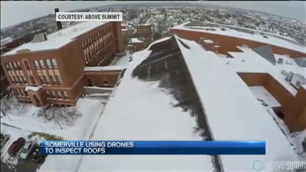 Drones to Inspect Snow-Covered Roofs