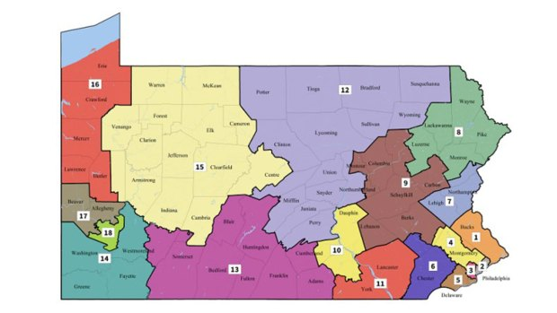 [NATL-PHI] New Congressional Map for Pennsylvania