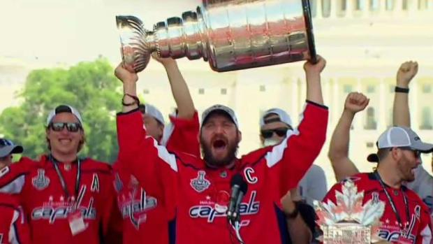 'We're the Stanley Cup Champions!': Ovi Celebrates