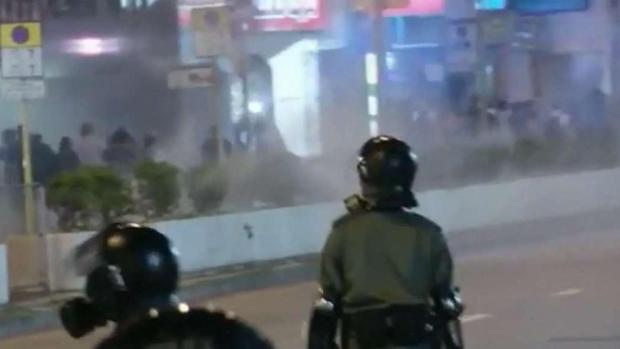 [NATL] Police Fire Tear Gas at Masked Hong Kong Protesters on Halloween