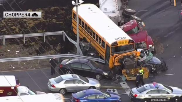 [DC] 1 Killed in Crash With Truck, Prince George's School Bus