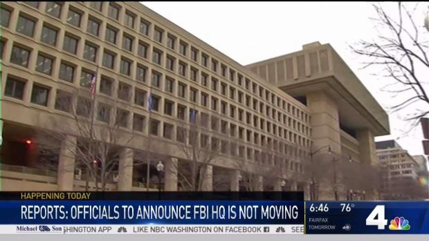 [DC] Reports: FBI Headquarters to Remain in NW Washington