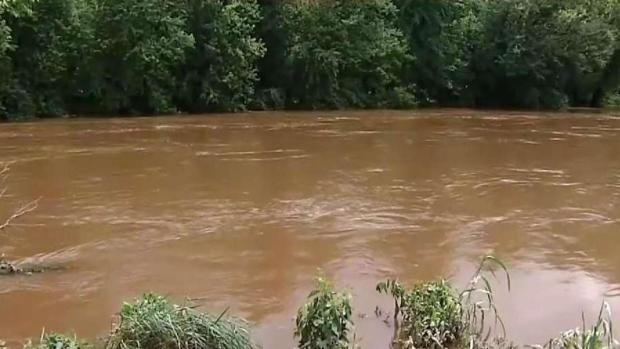 Rising Monocacy River Causes Flooding in Frederick