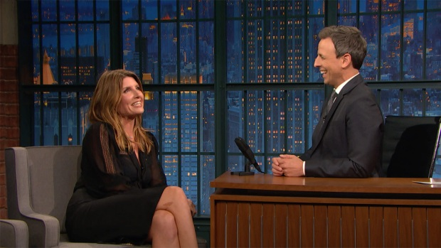 [NATL] 'Late Night': Sharon Horgan Remembers Dinner With Carrie Fisher