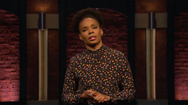 [NATL] 'Late Night': Writer Amber Takes on Mike Ditka