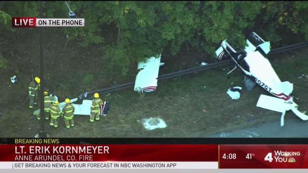 Small Plane Crashes in Maryland