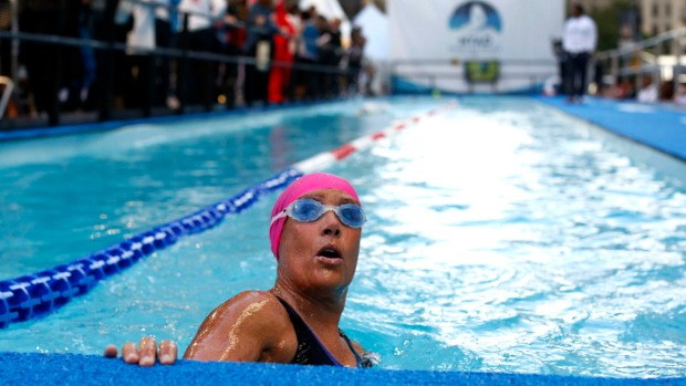 Images from Diana Nyad's Marathon Manhattan Swim