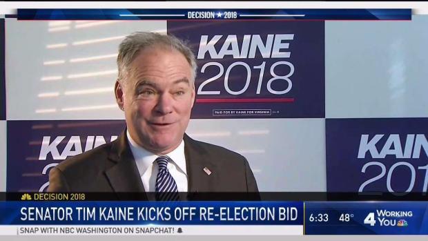 Va. Sen. Tim Kaine Kicks Off Re-Election Bid
