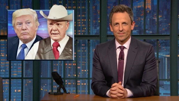 [NATL] 'Late Night': A Closer Look at President Trump and His Backing of Roy Moore
