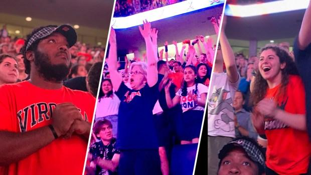 Photos: UVa. Fans React to NCAA Victory