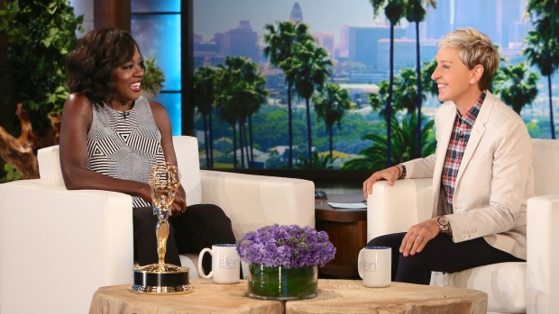 [NATL] 'Ellen': Viola Davis Talks About Her Historic Emmy Win