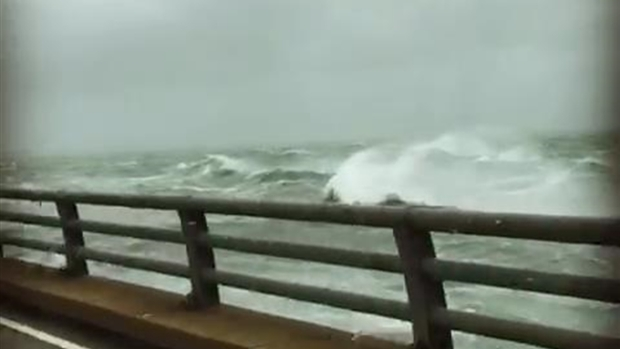 [NATL-NY] WATCH: Chesapeake Bay Bridge Tunnel Waves