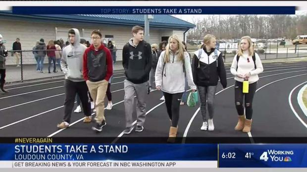 Loudoun Co. Students March, Walk Out to Honor Fallen