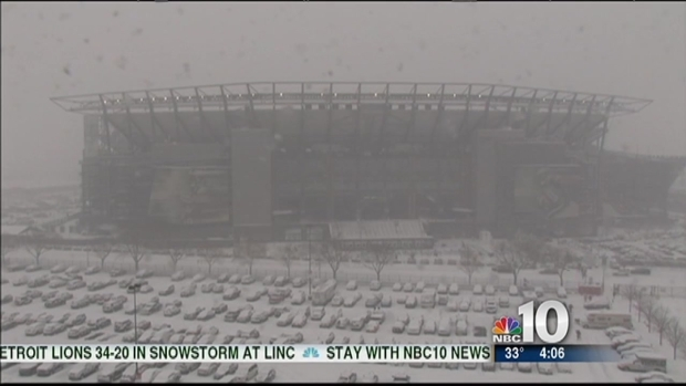 [PHI] Time-Lapse: Heavy Snow Moves Into the Linc