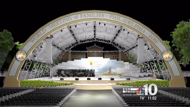 3D Preview Of The Stages Being Used For The Papal Visit