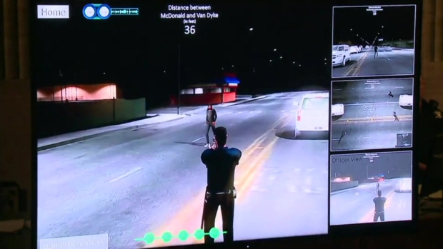 [NATL CHI] Defense Recreates Laquan McDonald Shooting From Van Dyke's Perspective