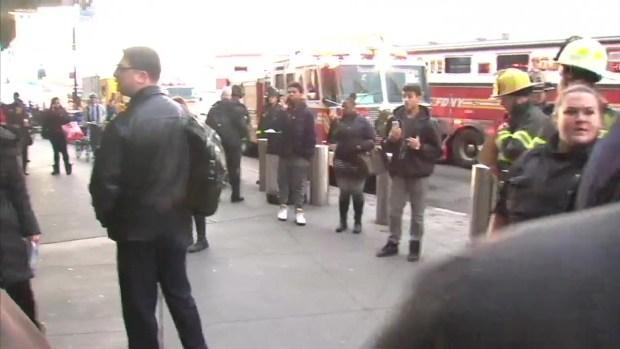 Raw Footage of LIRR Derailment Aftermath