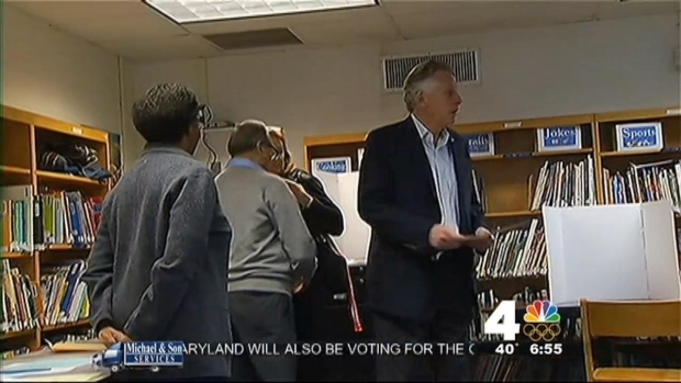 [DC]  Polls Open in Virginia; McAuliffe Casts His Vote