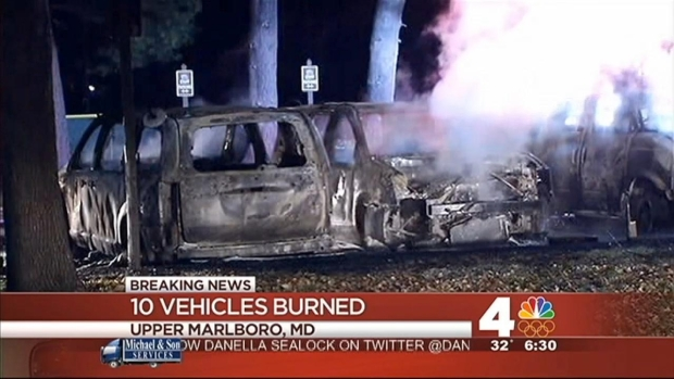 [DC] Fire Destroys 10 Vehicles at Upper Marlboro Park