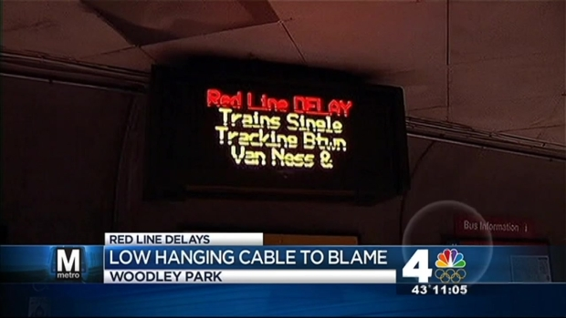 [DC] Low-Hanging Cable Makes Mess of Red Line